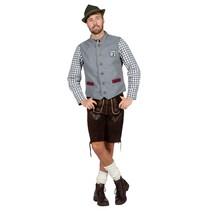 Gilet Tirol Oktoberfest Grijs