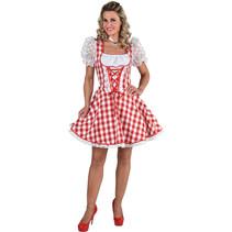 Sexy Dirndl Rosie rood/wit