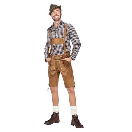 Tiroler blouse heren Taupe chique