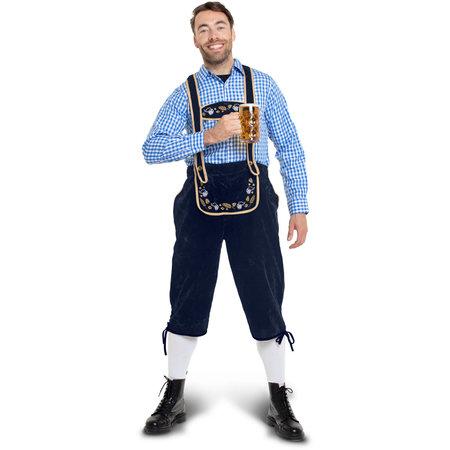 Lederhosen Blauw Oktoberfest Heren