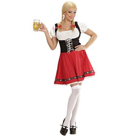 Verleidelijke bavarian outfit rood