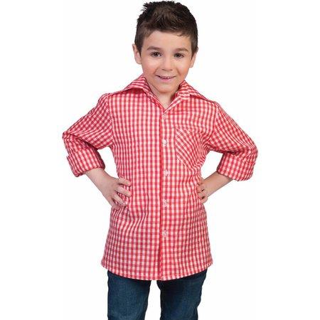 Tiroler blouse kind rood