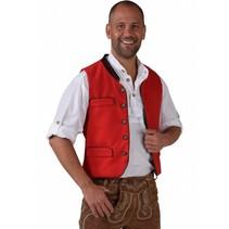 Tiroler Trachten Gilet rood elite
