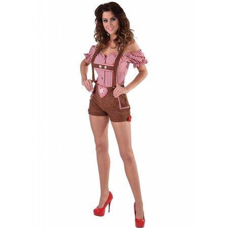 Sexy Tiroler broek met bretels bruin