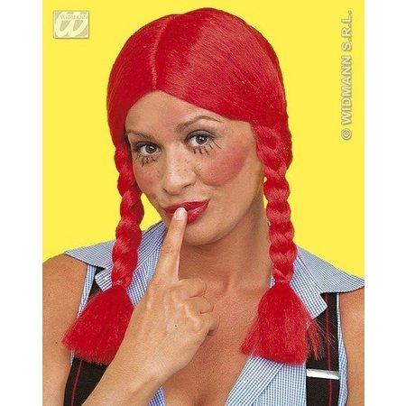 Pruik staartjes Wendy rood