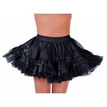 Petticoat kort zwart brede elastiek