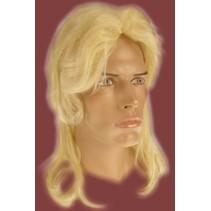 Pruik Dieter blond