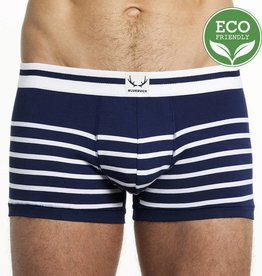 Bluebuck NAVY TRUNK WHITE STRIPES