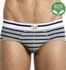 Bluebuck BRIEF GRIS rayado Marino