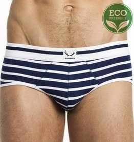 Bluebuck NAVY BRIEF WHITE STRIPES