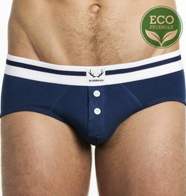 Bluebuck NAVY BRIEF WHITE BUTTONS