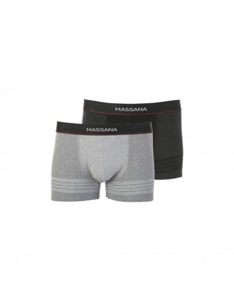 Massana UP27345 Pack 2 Boxer Grey, Black