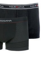 Massana UP27346019 Pack 2 Boxer Negro