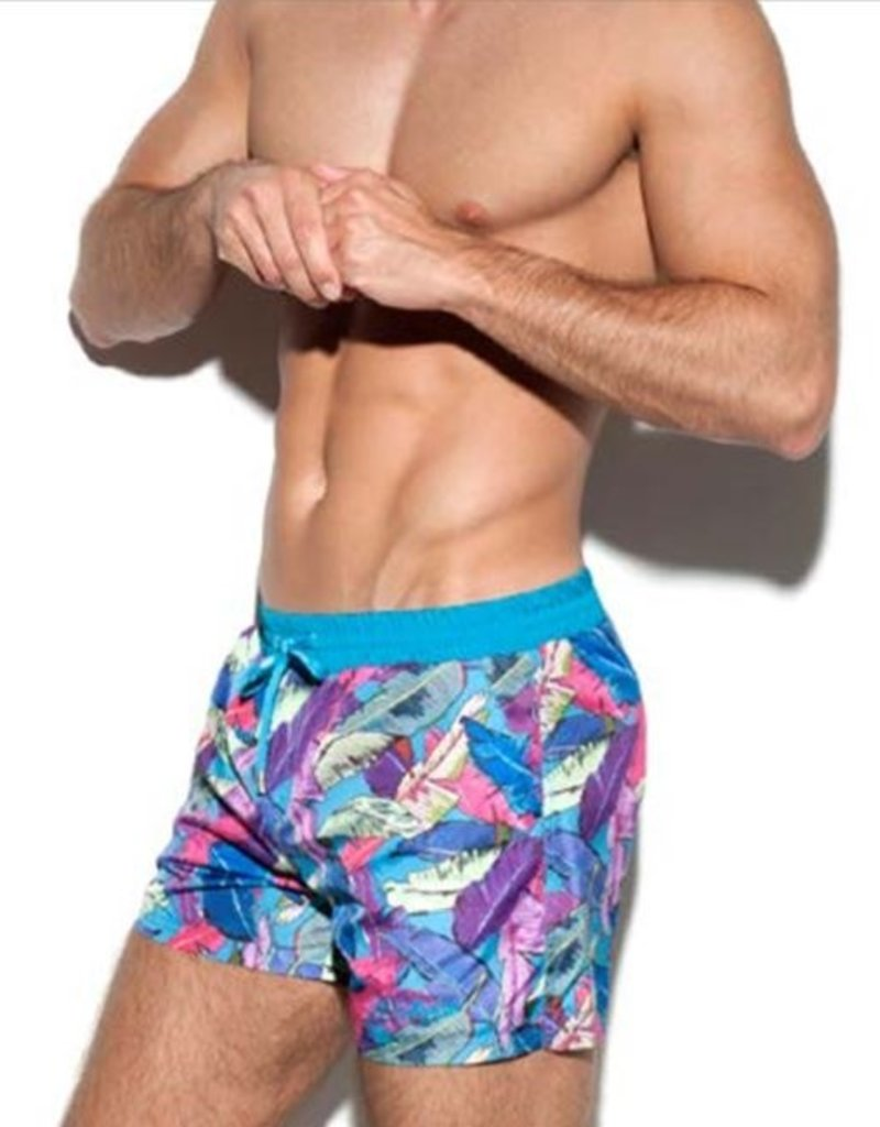 ES Collection 1908 C27 - Leaves swim boardshort
