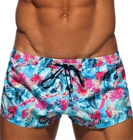 Addicted Leaves Swim Short Blauw