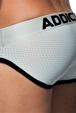 Addicted AD668C21 SILVER MESH BRIEF
