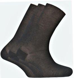 Punto Blanco Set van 3 paar sokken van 100% Schotse draad  - effen