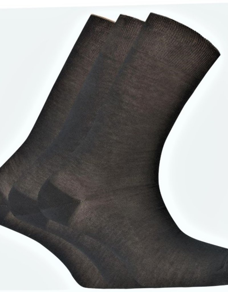 Punto Blanco 74267-10 Set van 3 paar sokken van 100% Schotse draad  - effen