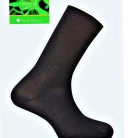 Punto Blanco Bamboe sokken - effen antipress manchet