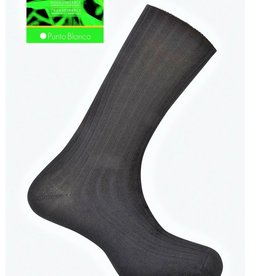 Punto Blanco Bamboe sokken - geribbelde antipress manchet