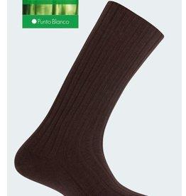 Punto Blanco Bamboe sok met ribben 6x2, ribbels worden niet strakker