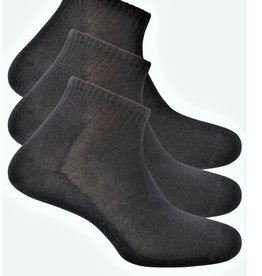 Punto Blanco 3 pack ankle cotton socks. Wide and ribbed cuff