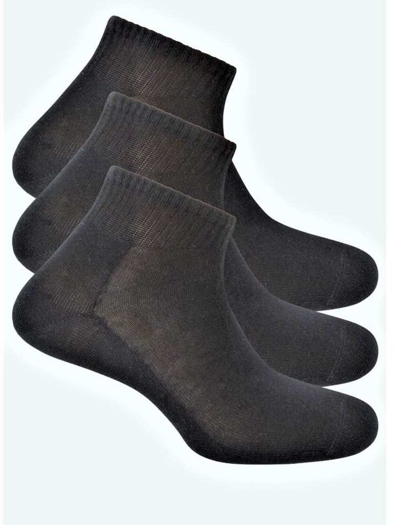 Punto Blanco 1304800C090 3 pack ankle cotton socks. Wide and ribbed cuff