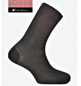 Punto Blanco Calcetines de Hilo de Escocia - canalé