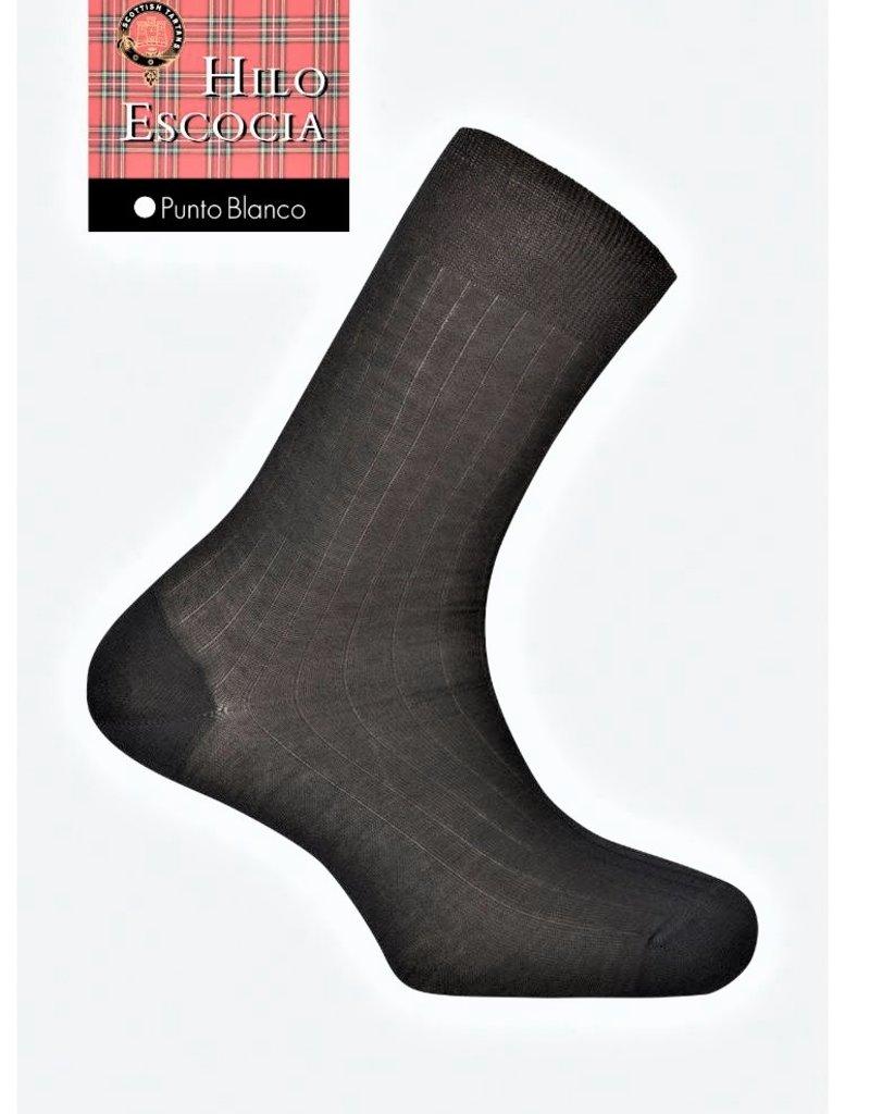 Punto Blanco 1346210 C090  Calcetines de Hilo de Escocia - canalé