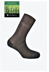 Punto Blanco 1342010C090 Lisle yarn sock - ribbed Deodorant