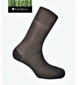 Punto Blanco Lisle yarn sock - ribbed Deodorant
