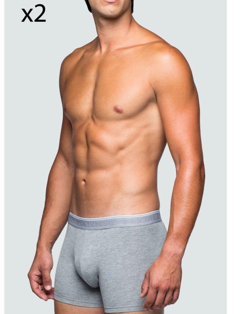 Punto Blanco 3330740654 Bamboo, 2 pack bamboo boxers - Grey