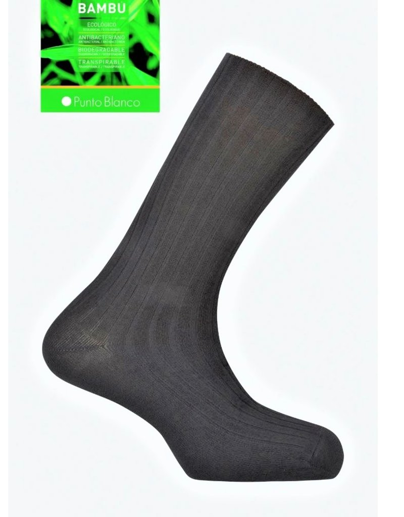 Punto Blanco  1352210C090 Bamboo socks - ribbed antipress cuff - Copy