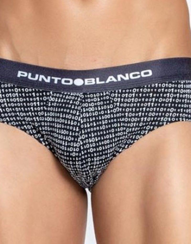 Punto Blanco 3349810-090  Slip de microfibra estampada, Binary