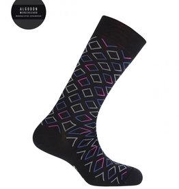 Punto Blanco Korte gemerceriseerde katoenen sokken met ruiten
