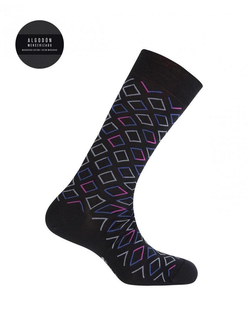 Punto Blanco  7496110-090 Korte gemerceriseerde katoenen sokken met ruiten