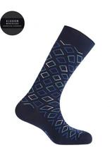 Punto Blanco  7496110-100 Mercerised cotton socks - diamonds