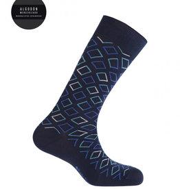 Punto Blanco Mercerised cotton socks - diamonds