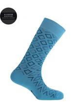 Punto Blanco  7496110-188 Korte gemerceriseerde katoenen sokken met ruiten