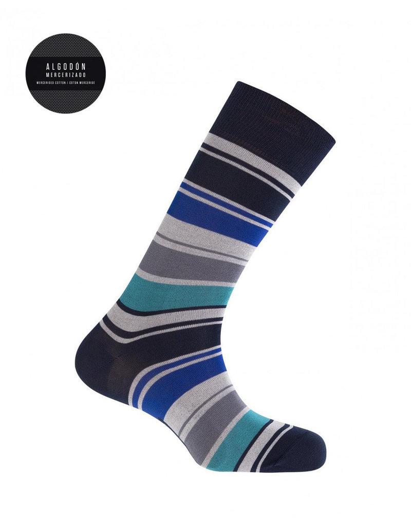 Punto Blanco 7495310-100   Mercerised cotton socks - stripes