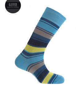 Punto Blanco Gemerceriseerde katoenen sokken - strepen