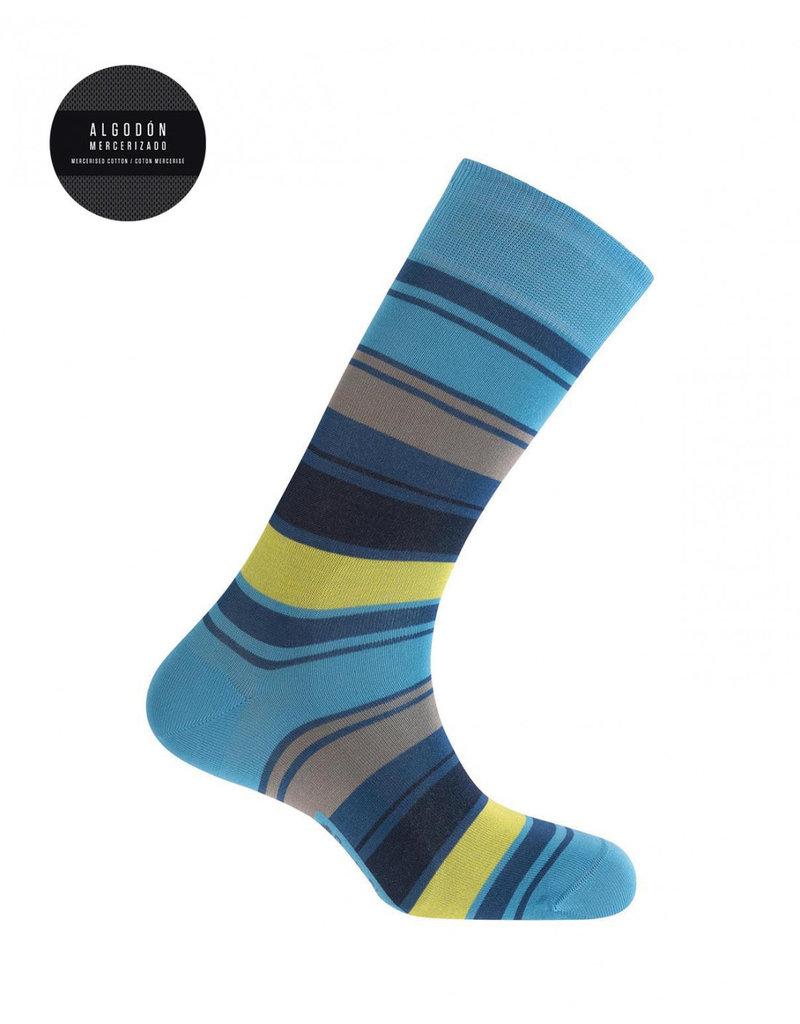 Punto Blanco 7495310-188 Mercerised cotton socks - stripes
