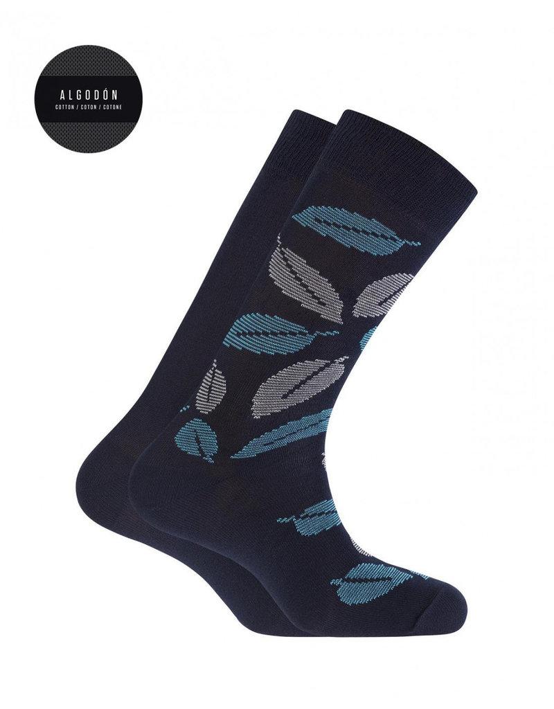 Punto Blanco 7495410-090 Katoenen sokken - bladeren en effen