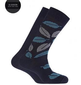 Punto Blanco 2 paren Katoenen sokken - bladeren en effen