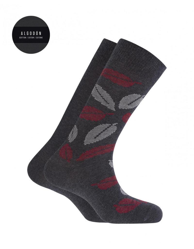 Punto Blanco 7495410-657 Katoenen sokken - bladeren en effen