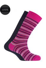 Punto Blanco 7495610-580 2 paren katoenen sokken - gestreept en effen