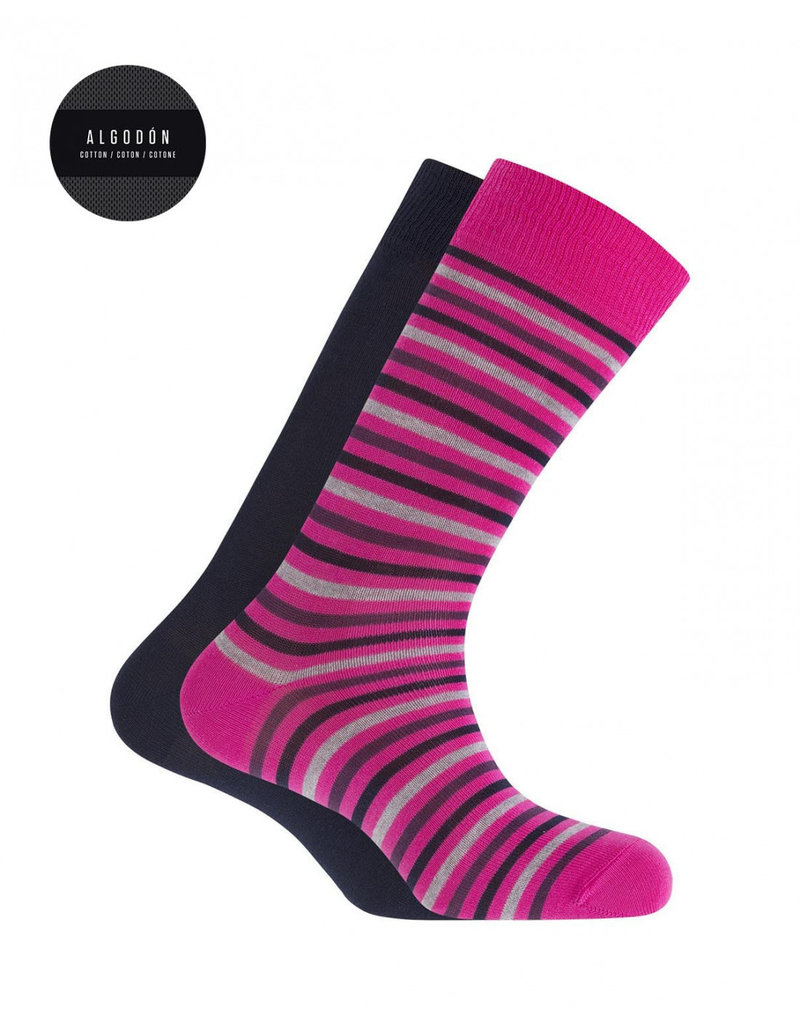 Punto Blanco 7495610-580 2 pairs Cotton socks - stripes and plain