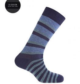 Punto Blanco Korte gestreepte katoenen sokken