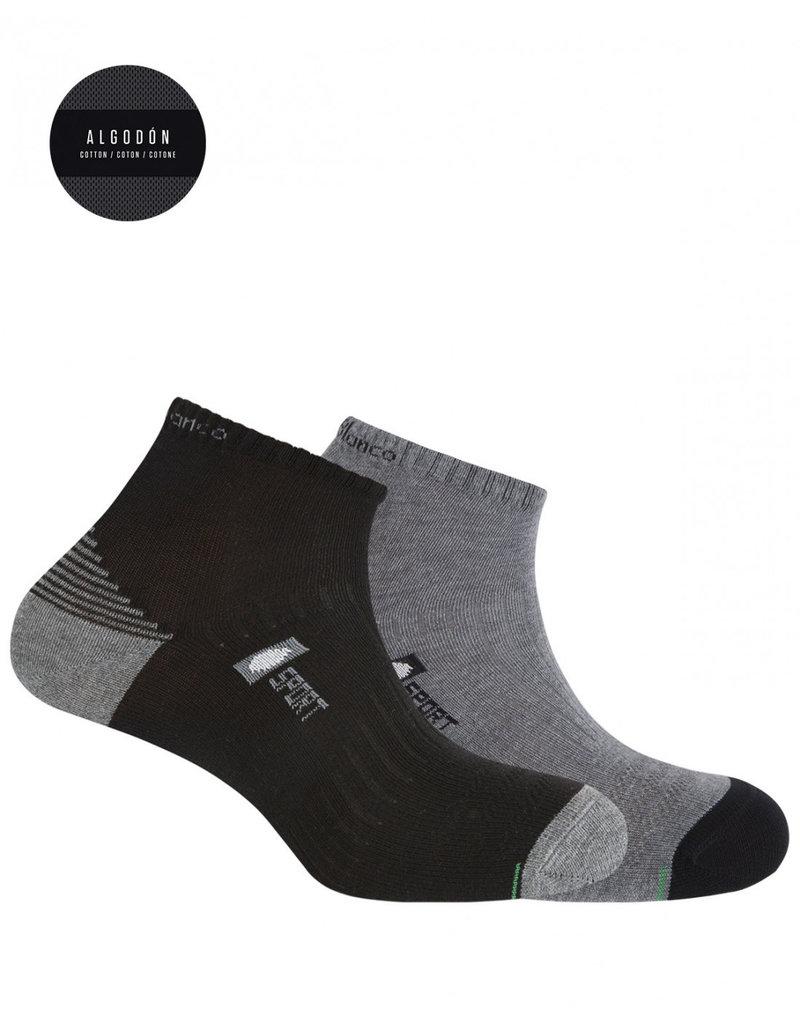 Punto Blanco 7437200-582 Pack de 2 calcetines de algodón deportivos - semiliso