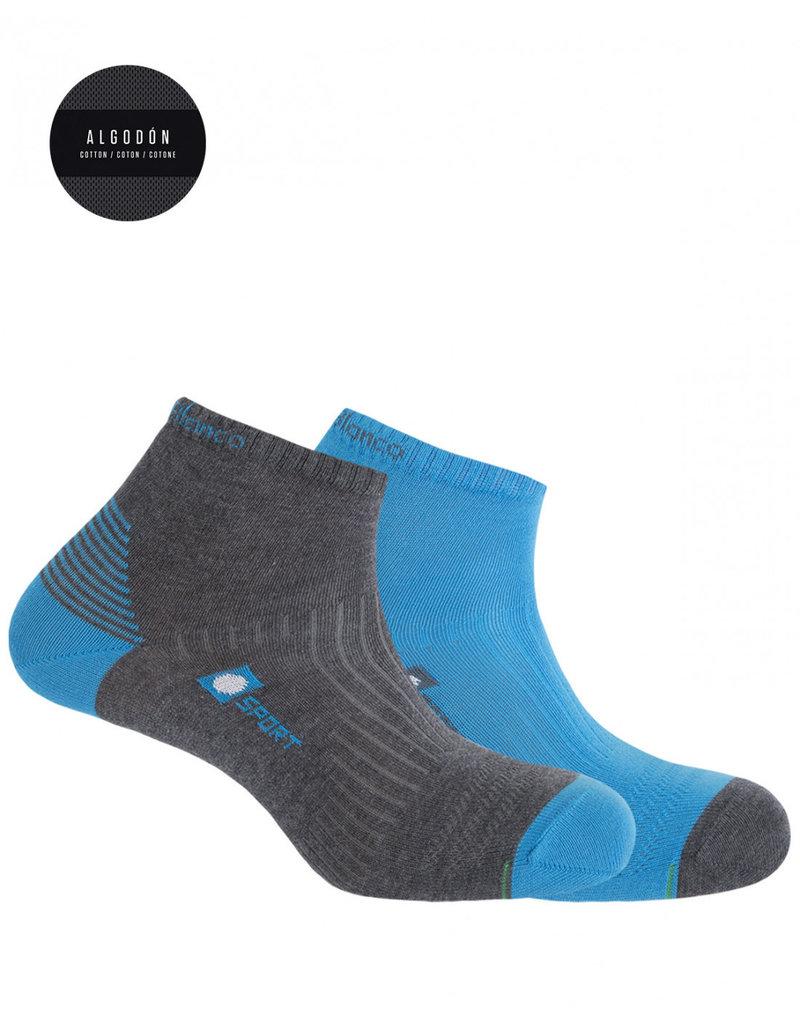 Punto Blanco 7437200-586 Pack de 2 calcetines de algodón deportivos - semiliso